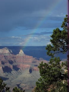 Pot of gold at at Grand Canyon